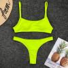 Fluorescent Sports Bikinis 2019 Mujer Sling Push Up Bikini Low Waist Thong May Women Separate Swimsuit Female Swimwear Badpak