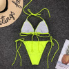 Hot Mini Bikinis 2019 Mujer Fluorescent Yellow Thong Micro Bikini Push Up Sling May Women Separate Swimsuit Female Swimming Suit