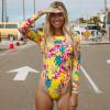 One Piece Swimsuit 2019 New Sexy Long Sleeve Swimwear Women Print Bathing Suit Beach Wear Back Cut Swimming Suits Monokini Yellow