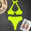 Hot Hot Bikinis 2019 Mujer Striped Fabric Steel Support Bikini Push Up Separate Swimsuit May Women Swimwear Female Swimming Suit