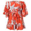2019 Bohemian Women Off Shoulder Boho Dress Womens Slash Neck Loose Beach Dresses With Belt Sundress Vestidos Verano