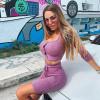 Tracksuit Women Shorts Clothes Matching Sets Crop Summer Top Vintage Streetwear Knit Long Sleeve Lounge Wear Set