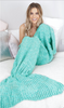 Mermaid tail blanket green - palaceofchic