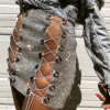 LACE UP CRYSTAL SKIRT - wantmychic