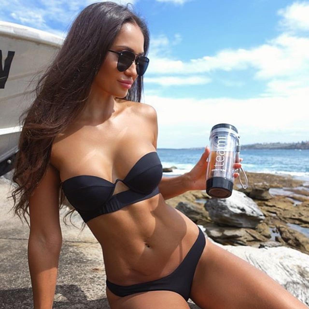 6a44be43d40 Strapless black bikinis 2018 sexy push up swimwear swimsuit women ...