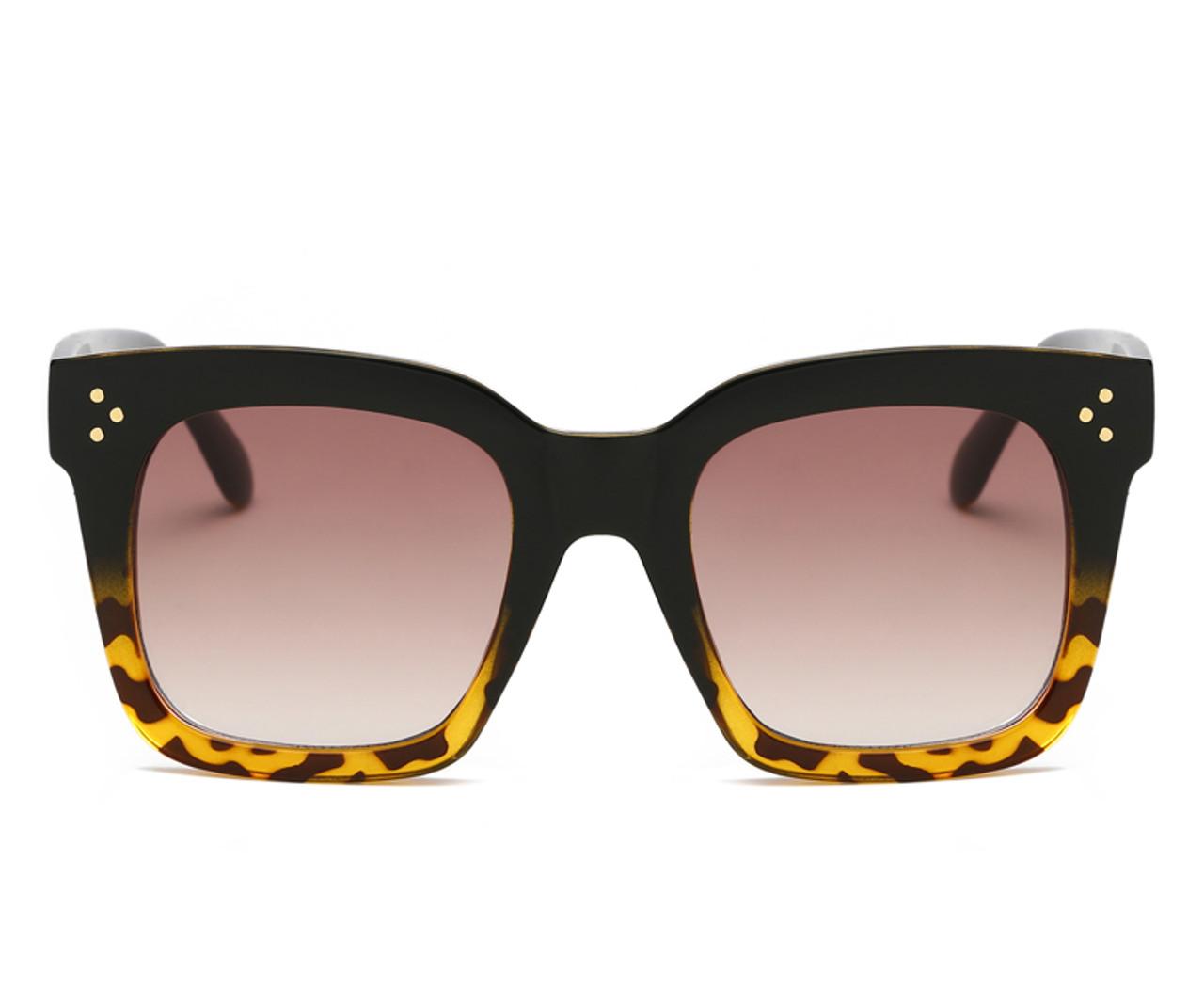 40b091e63b74 Luxury Square Sunglasses Women Fashion Brand Designer Big Frame Gradient  Lens Classic Rivet Shades Female Male Eyewear UV400