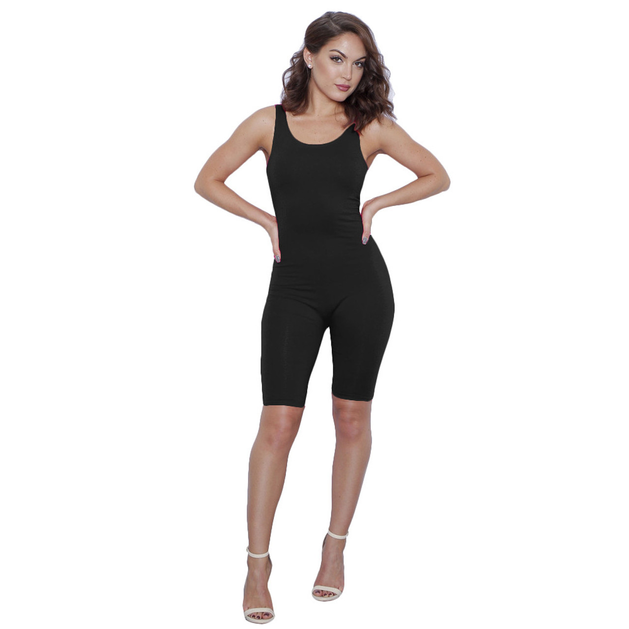 Sexy O-neck Sleeveless Bodysuit Women Jumpsuit Romper Body Zipper Top Bodysuit Overall Summer Solid Apparel Female Bodysuits