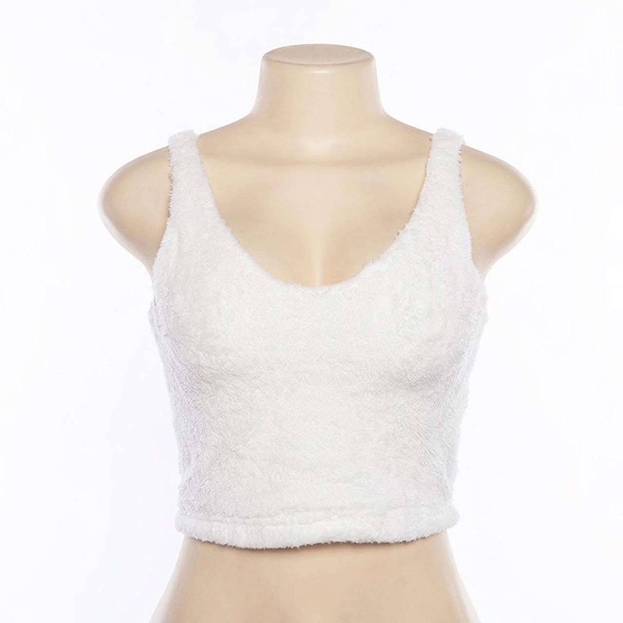 Women Fashion V-neck Long Sleeve Furry Casual Sweater Crop Popular Women Tops