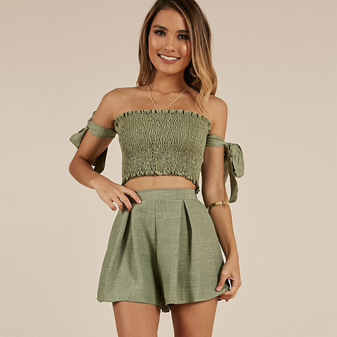 c30c55fd9ec13 2-Piece-Set-Women-Outfits-Strapless-Tie-Sleeve-Tube-Crop-Top-And-High-Waist- Shorts-Two copy  66975.1551152925.jpg c 2 imbypass on