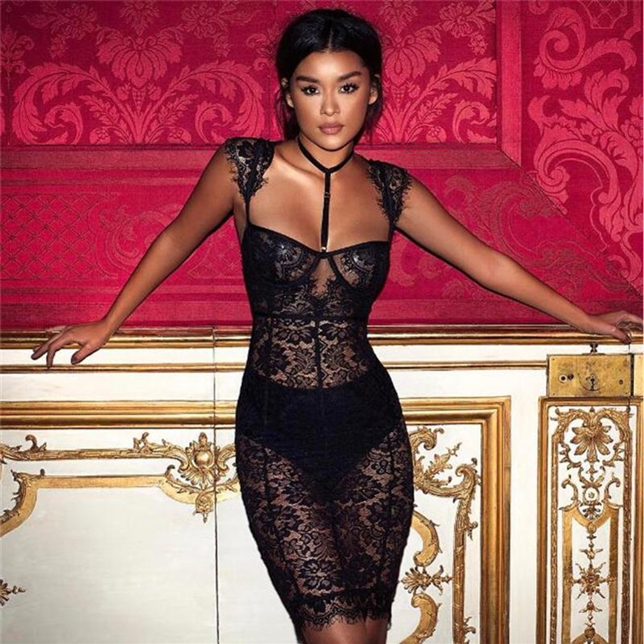 fed2704aa34 SEXY DIRTY PARTY LACE DRESS - wantmychic