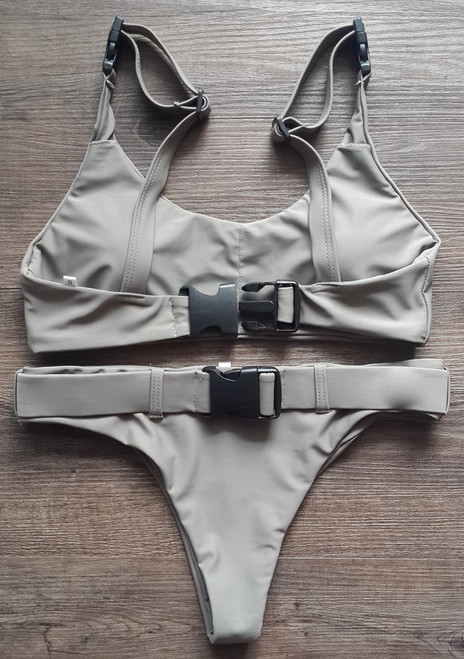 fec4e310e24 2018 Biquini White Sexy High Cut Brazilian Thong Bikinis Women Swimsuit  Triangle Molle Buckle Girls Swimwear ...