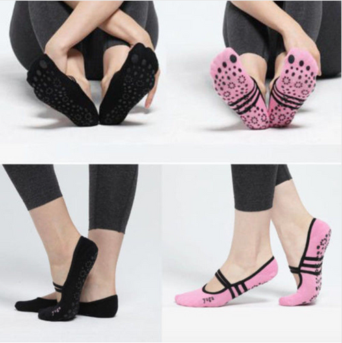 Fashion Hot Women's Non-Slip Ballet Dance Socks Yoga Fitness Pilates Girls Grip Socks Ladies Girls Casual Socks