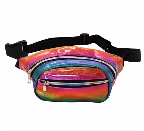 82acf4c982 2018 Holographic Fanny Pack Women Laser Bum Bag Travel Beach Shiny Waist  Bags Hengreda Raves Hip Bag Fashion Hologram PVC Travel