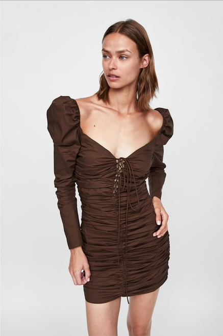SHORT DRESS WITH RUCHING