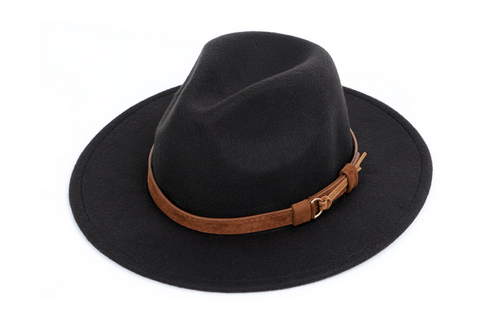 fedora wool warm and comfortable hats unisex fashion trend solid caps classic bowler hat