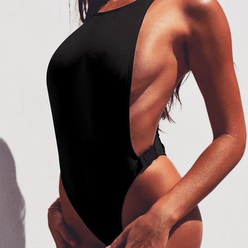 2019 high waisted swimming set ladies black beach wear sexy women white thong tankini mayo bikini suit african swimwear monokini