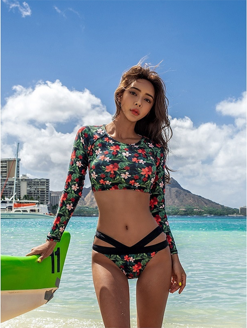Surfing Swimsuits For Women Bath Suits Windsurfing Swimsuit Girls May Women's Beach Rashguard Long Sleeve Trousers Three Piece