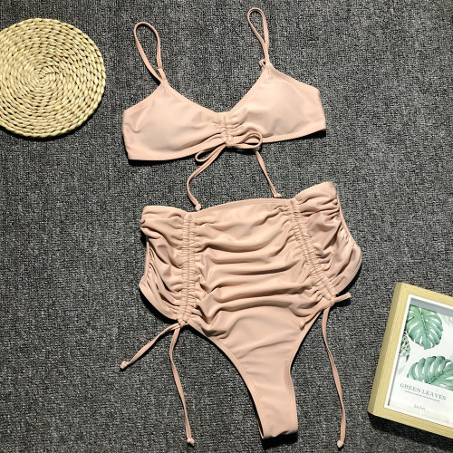Summer 2019 Sexy Leopard Beach Swimwear Women High Waist Swimsuit Thong Neon Bikini Push Up Bandage Bikini Mujer