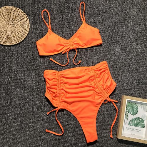 Summer 2019 Sexy Leopard Beach Swimwear Women High Waist Swimsuit Thong Neon Bikini Push Up Bandage Bikini Mujer Neon
