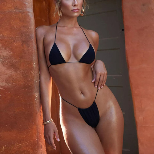 2019 Solid Bikini Pushup Women Swimwear Swimsuit Bathing Suit Sexy Adjustable Strap Beach Wear Maillot De Bain Femme
