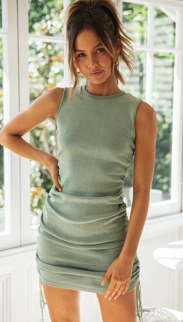 Summer Solid Casual Vacation Slim Dress Women knitting O Neck Sleeveless Fashion Skinny Lady Mini Wrap Dress 2020 New