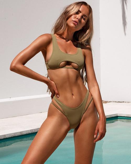 2020 Swimwear Women Sexy Bikini Swimsuit Push Up Swimming Suit Femme Bathing Suit Solid Biquini Cut Out Bikinis Set Beachwear