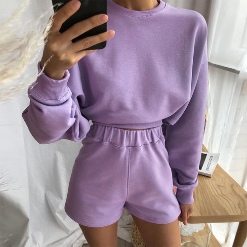 Autumn Sweat Suits Women Two Piece Outfits Baggy Long Sleeve Solid Woman Tracksuit 2 Pieces Streetwear Casual Tops Top