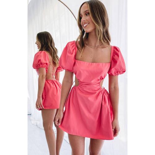 Summer dress mini Dress Pink vestido de mujer cute sexy dress party dress платья клубные bodycon dress sukienki dress летнее пл