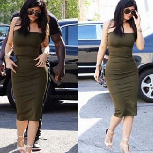 kylie strapless dress