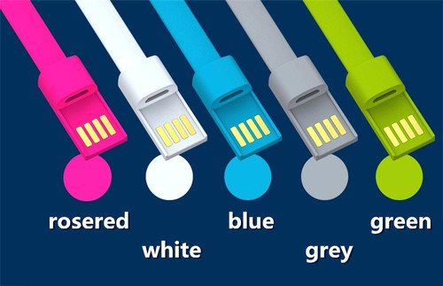 """USB Bracelet Charger cable for iphone 5S 6 4.7"""" 6 plus for iPad"""