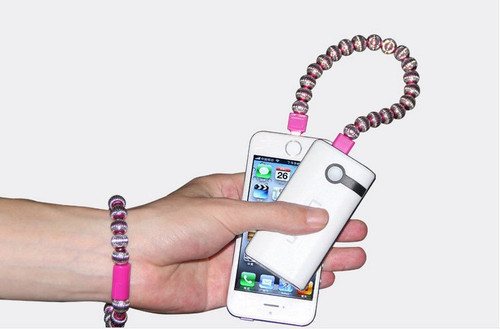 """USB Metal Bracelet Charger cable for iphone 5S 6 4.7"""" 6 plus for iPad"""