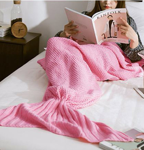 Mermaid tail blanket pink - palaceofchic