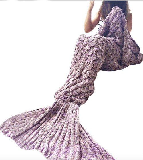 Mermaid tail blanket purple