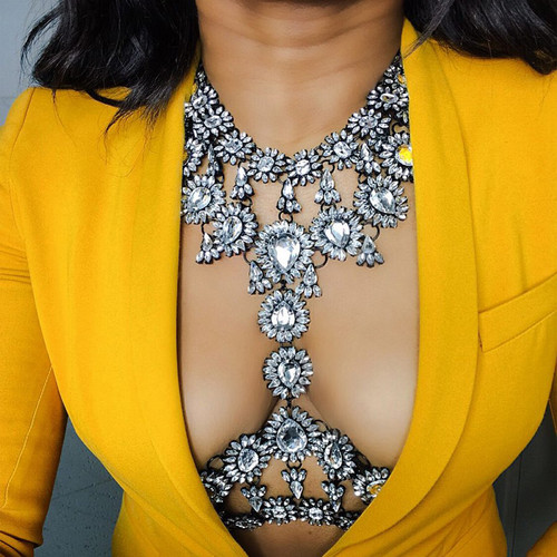wantmychic | Chunky Flower Necklace pendant Statement