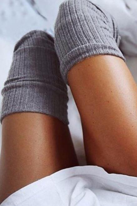 high knee socks - wantmychic