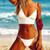 2018 Bikinis Women New Sexy Swimwear Swimsuit White Push Up Bikini Bathing Suit Women Pleated Bikini Set Monokini