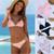 push up white mayo string pink bikini low waisted padded tankini thong women split swimsuit ladies sexy bandage bikini swimwear