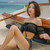 Women Two pieces Off-Shoulder Swimming suit&Sun protection Cover up Amphibious beach wear Wire Bathing suit