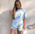 2020 tie dye short sleeve loose baggy top shorts 2 piecess set summer women fashion streetwear T-shirts tracksuit