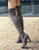 Black Gray Womens Micro Suede Thigh High Boots Block Thick Heel Stretch Over the Knee Boots for Woman Plus Size Wine Nude Beige