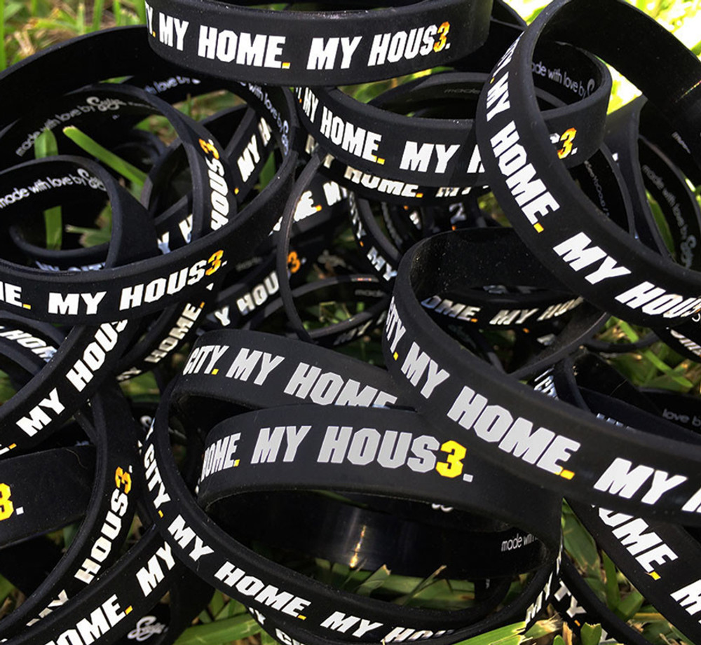 MY CITY. MY HOME. MY HOUS3. Wristband