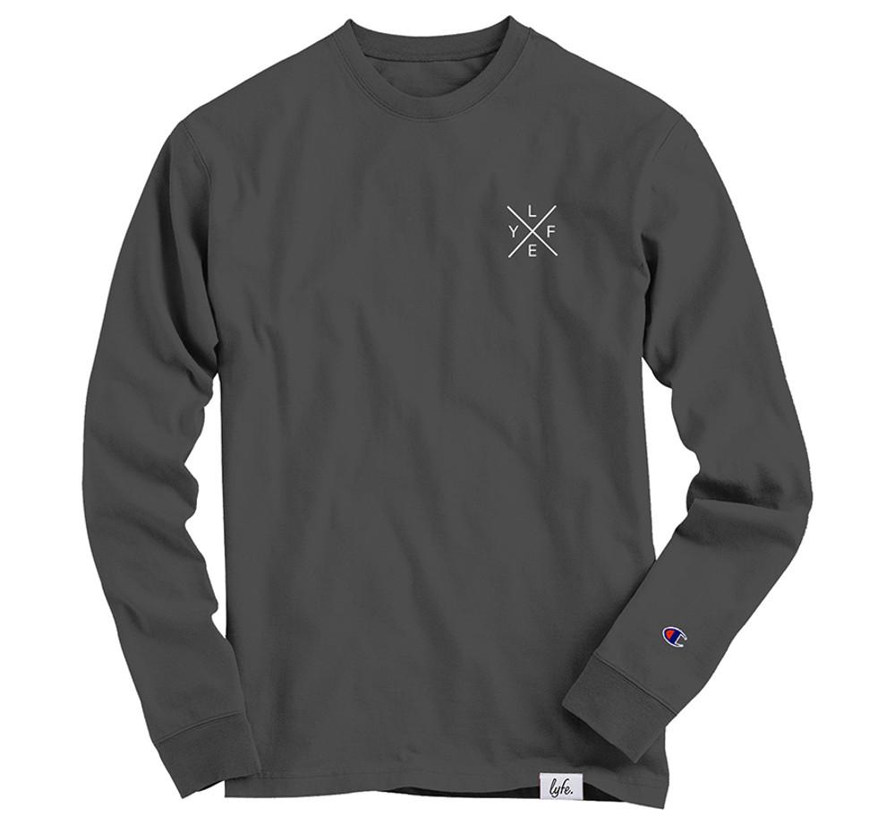 LYFE Cross Embroidered Sweatshirt