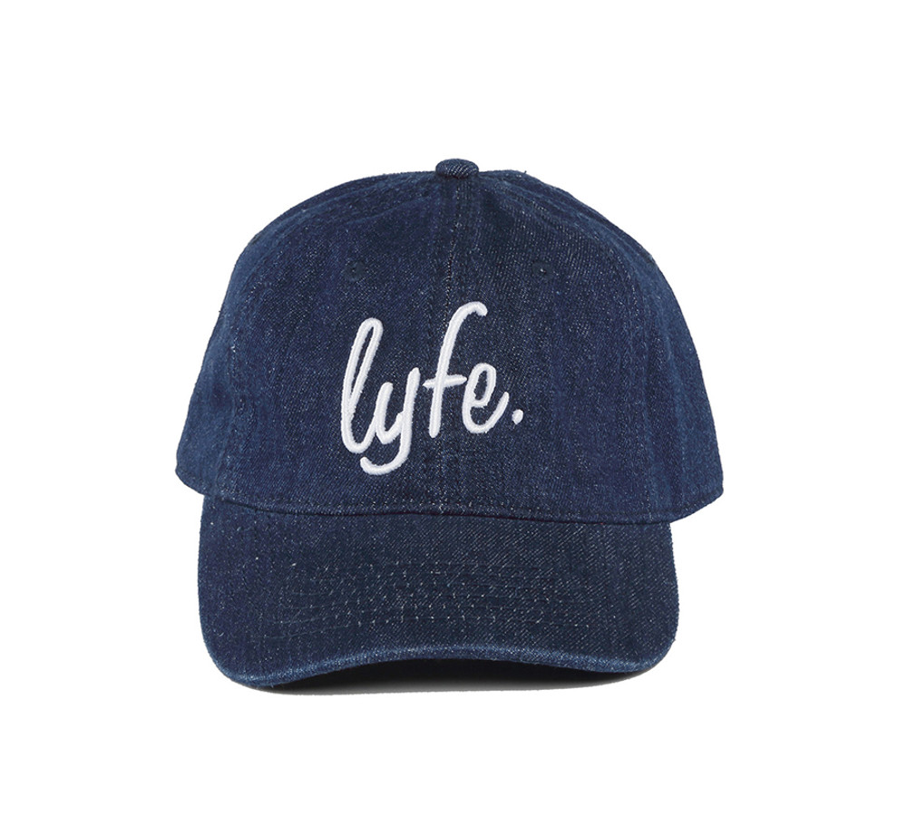 "LYFE Script Dark Denim ""Dad"" Cap"
