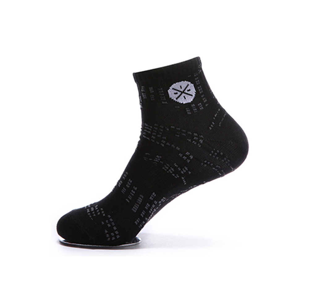 WoW Mid Cut Socks AWSM003-3 BLACK