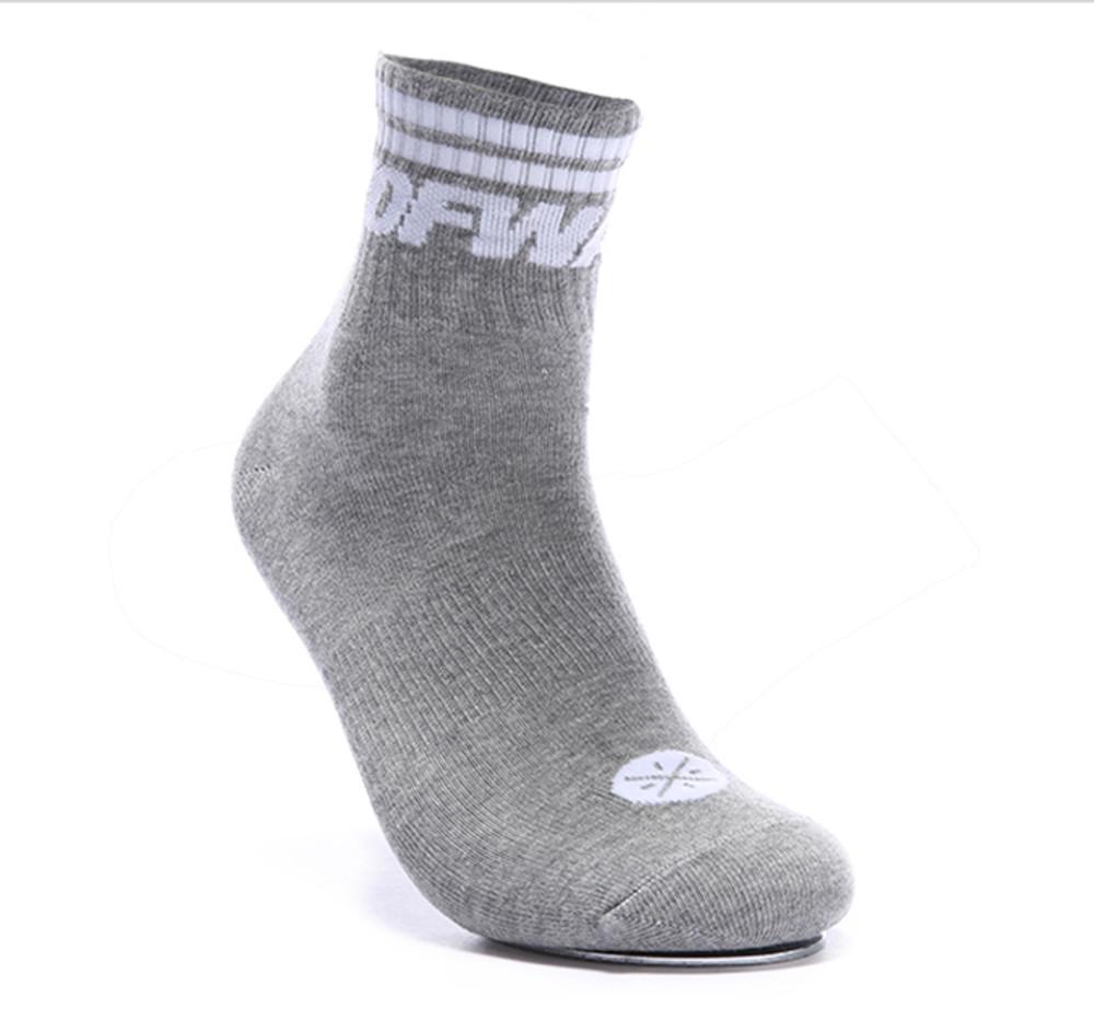 WoW Mid Cut Socks AWSM047-2 Grey