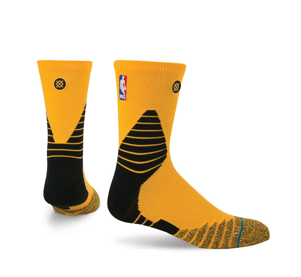 Stance NBA On Court Solid QTR Yellow