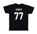 LES (ART)ISTS Black KANYE77 Football Tee