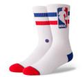 Stance NBA Logoman Oversize Socks White