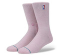 Stance NBA Logoman Crew II Pink Sock