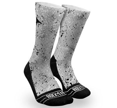 Rock 'Em Grey Splatter Fractal